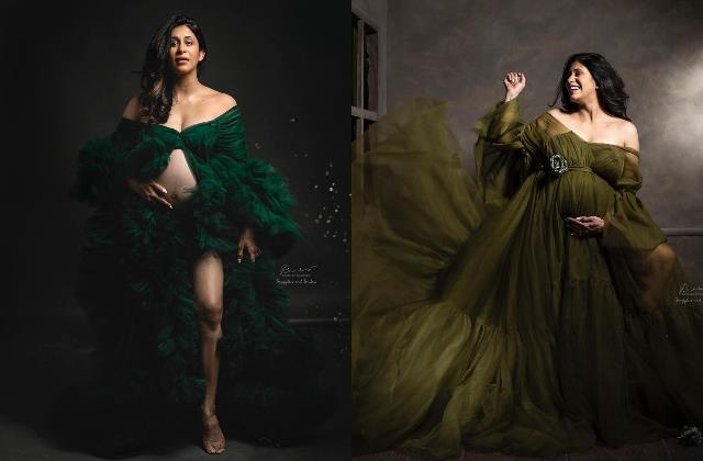 9 months pregnant kishwer merchant flaunt her baby bump in latest photoshoot