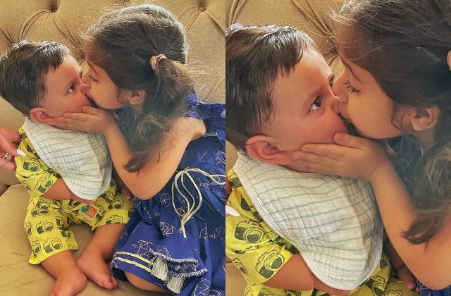 inaaya celebrates first raksha bandhan with baby brother jehangir