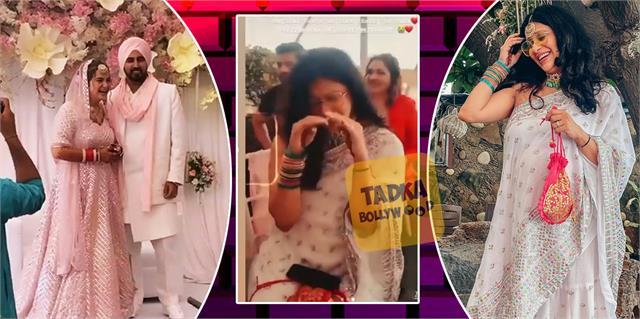 9 month pregnant kishwer merchant masti at best friend gurneet wedding