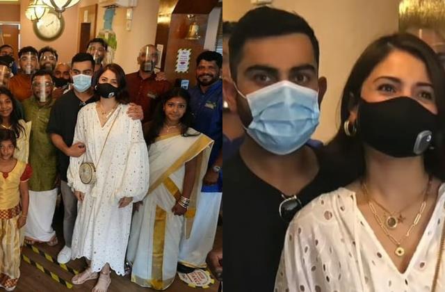 anushka sharma virat kohli celebrated onam at uk