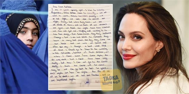 angelina jolie sharing a letter from an afghan teen said i will be your voice