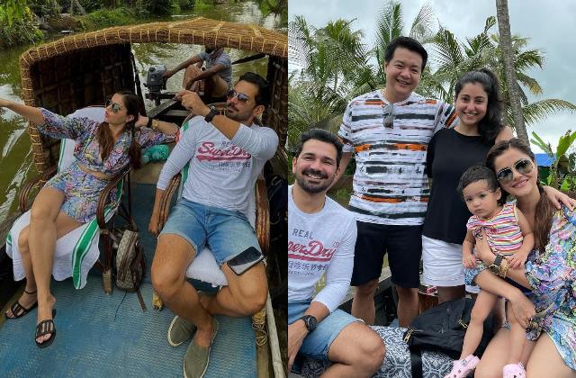 rubina dilaik enjoys vacation in kerala with hubby abhinav shukla