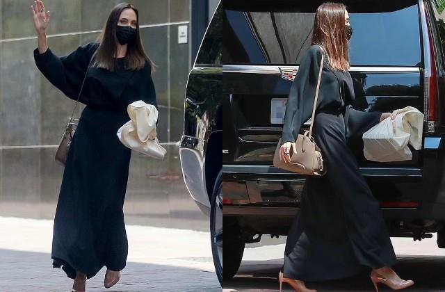लॉस एंजिल्स में स्पॉट हुई एंजेलिना जोली, ब्लैक ड्रेस में एक्ट्रेस का दिखा स्टाइलिश अंदाज