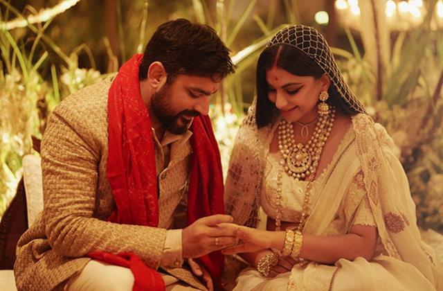 rhea kapoor shares first picture with husband karan boolani
