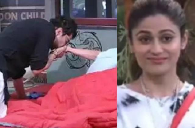 bigg boss ott rakesh bapat gave morning kiss to shamita shetty
