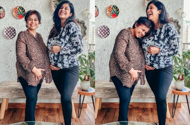 kishwer merchantt mother rizwana flaunts fake baby bump with actress