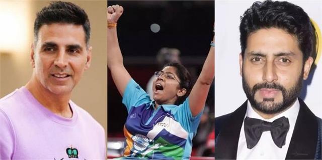 akshay abhishek and randeep congratulate bhavina petal for silver medal