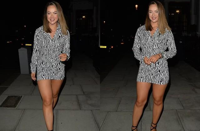 sharon gaffka spotted in mayfair