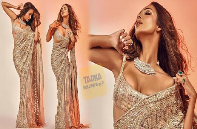 malaika arora shares her hot photos in saree look