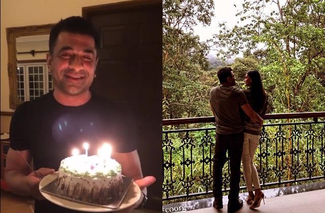 eijaz khan celebrate his birthday with ladylove pavitra punia
