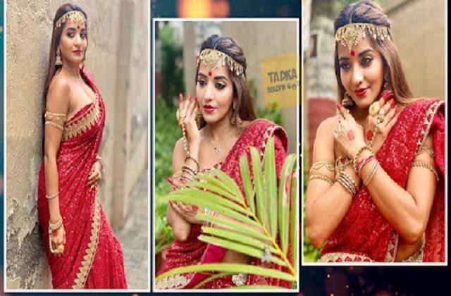 monalisa shares her beautiful photos in saree look