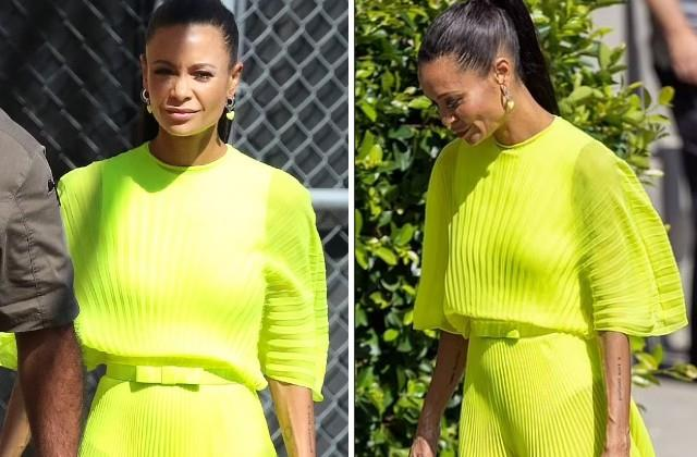 thandiwe newton spotted on the streets of los angeles