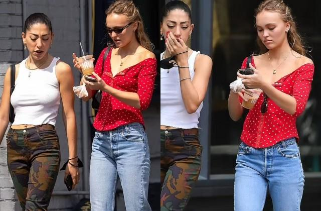 lily rose depp spotted in new york city