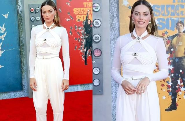 margot robbie look gorgeous in white outfit
