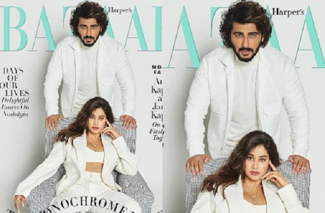 janhvi kapoor photoshoot with brother arjun kapoor for bazaar magazine