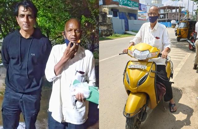 old fan drove 1450 km to meet sonu sood