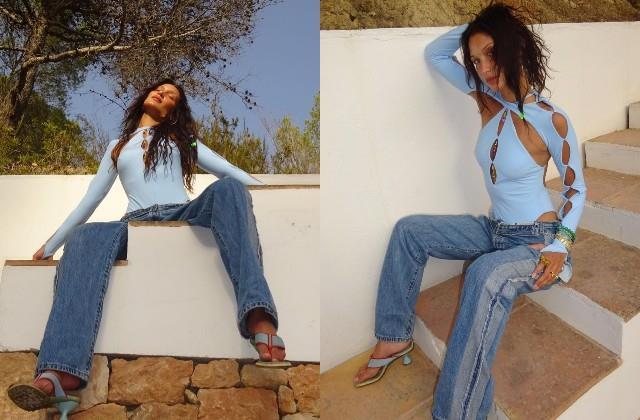bella hadid shares stylish look photos