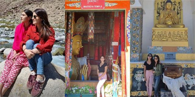 sara ali khan and radhika madan enjoys ladakh trip