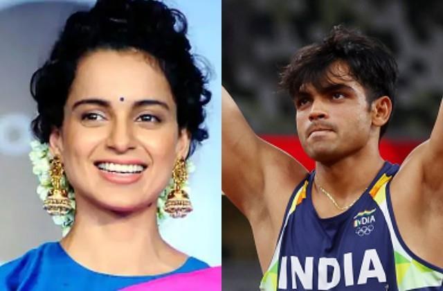 neeraj chopra won first gold medal in tokyo olympics celebration in bollywood