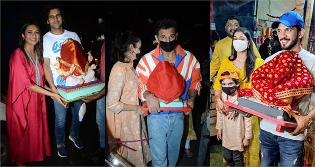 ganesh chaturthi 2021 divyanka yuvika others bring home ganpati idols