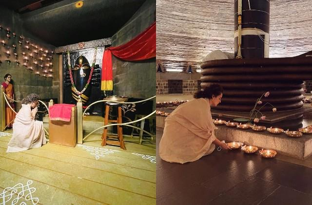 kangana ranaut absorbed in the devotion of goddess bhairavi