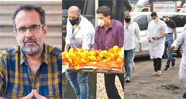 aanand l rai mother funeral akshay kumar and others pay last respect