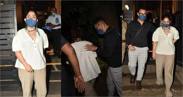 aamir khan steps out for dinner outing with daughter ira khan