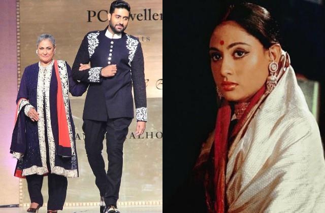 abhishek bachchan shares post on 50 years of jaya bachchan in film industry