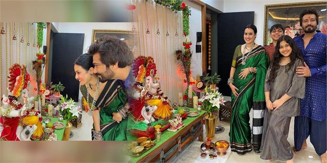 kamya punjabi celebrate ganesh chaturthi with family