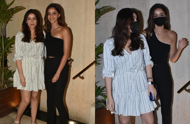 ananya panday spotted with mom bhavna pandey at manish malhotra party