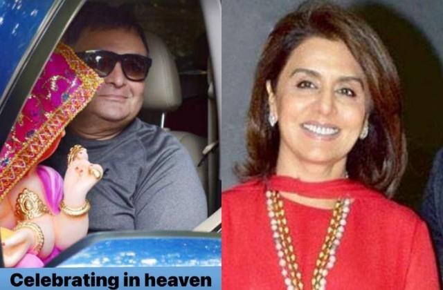 neetu kapoor shares throwback photo of late rishi kapoor with bappa