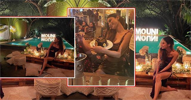 mouni roy got surprise on her birthday  actress shares celebration photos