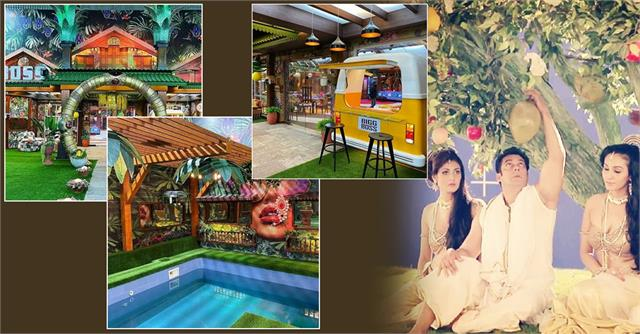 jungle themed house pictures leaked from salman khan show bigg boss 15