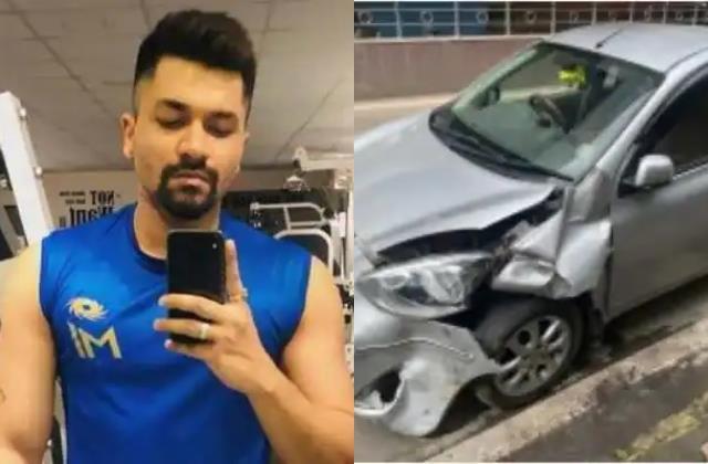 taarak mehta ka ooltah chashmah actor prashant bajaj car hit by autorickshaw