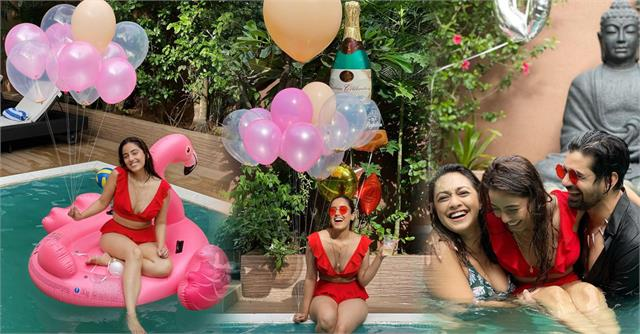 srishty rode pool party with friends on 30th birthday