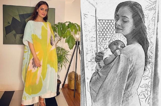 dia mirza attended the event leaving son at home said   it was very difficult