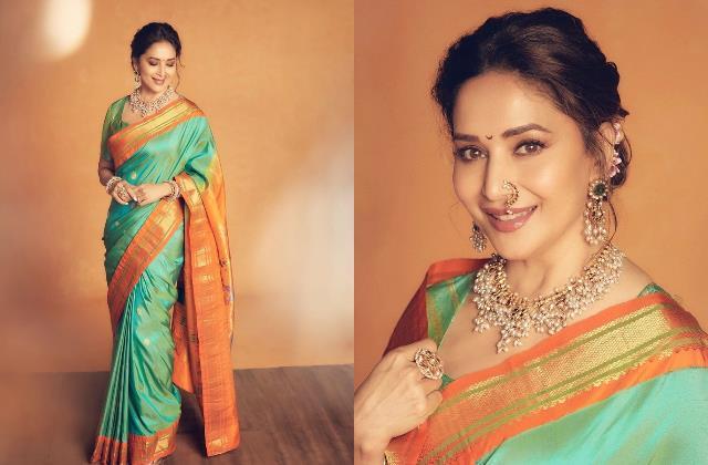 madhuri dixit nene elegant marathi look steals everyone heart