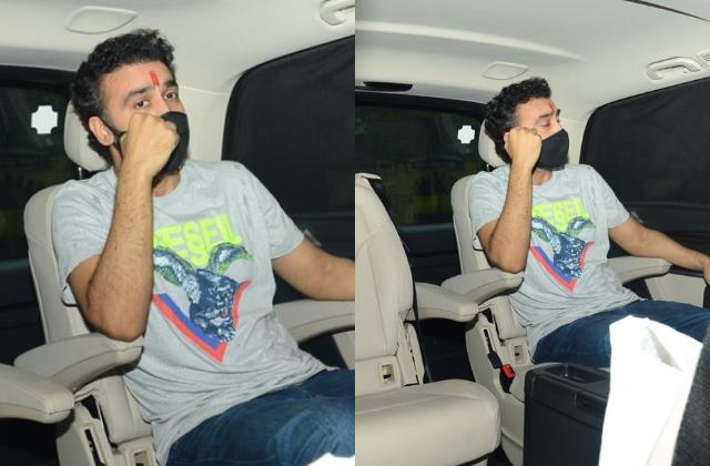 shilpa shetty husband raj kundra was spotted after being released from jail