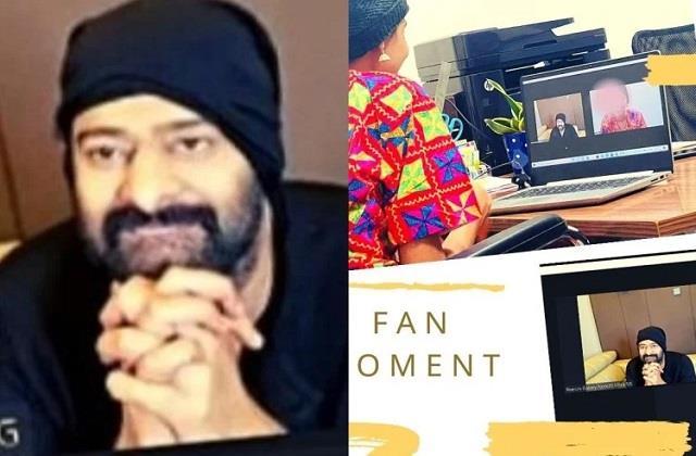 prabhas met admit fan in hospital through video chat