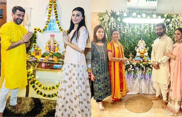 ejaz first ganesh chaturthi with pavitra sharad ripci celebrate ganesh utsav