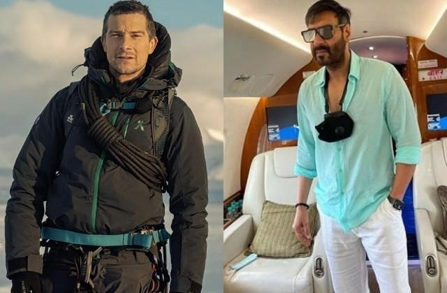 after akshay and rajinikanth ajay will go journey of wild life with bear grylls