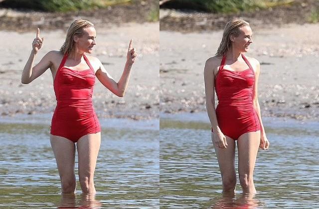 स्विमसूट पहने पानी में चिल करती नजर आईं Diane Kruger, रेड लुक से फैंस के दिलों पर चलाई छुरियां