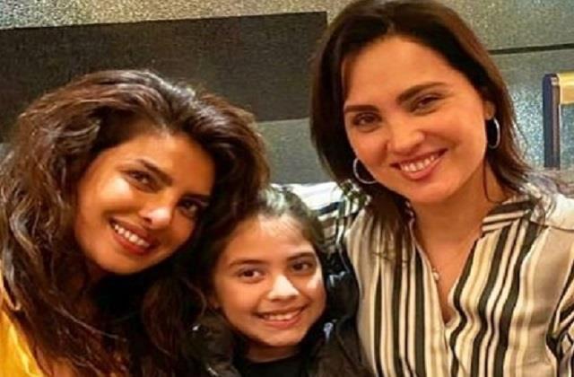 priyanka chopra meets friend lara dutta in london