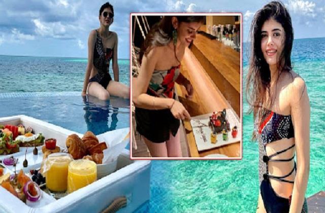 sanjana sanghi celebrate her birthday in maldives
