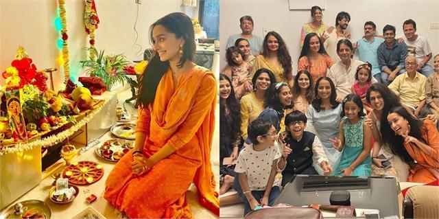 shraddha kapoor celebrate ganesh chaturthi with family