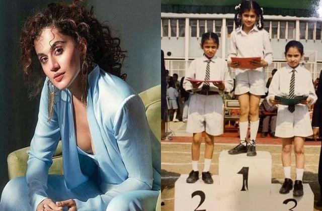 taapsee pannu shares school days photo