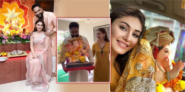 shefali jariwala celebrates ganesh chaturthi with husband parag tyagi