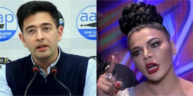 rakhi slams aap leader raghav for comparing with navjot singh sidhu