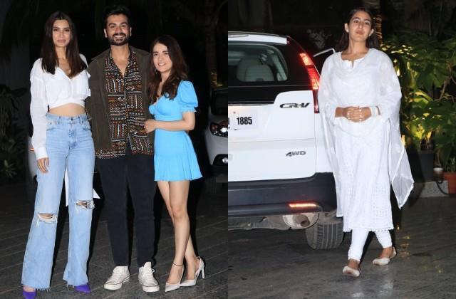 radhika sara sunny kaushal and diana penty spotted shiddat screening