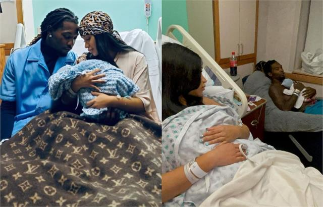 cardi b and offset blessed wiith baby boy